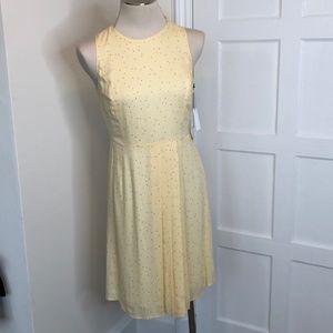 NWT Savile Row Yellow Melon Print Dress Size 6